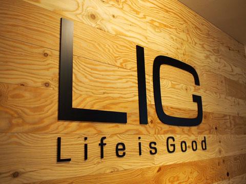 「【第1回 いい時間】学の無い二人が学ぶ、教育ビジネスの未来」会場のLIG