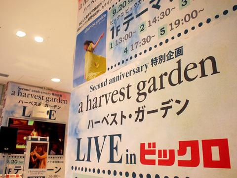 a harvest garden「ほらごらん」インストアライブ@新宿ビックロ